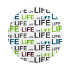 life - zielony