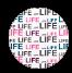 life - różowy